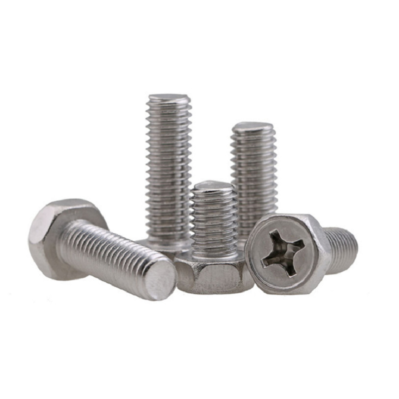 M3 304 Stainless Steel Phillips Hex Head Bolts