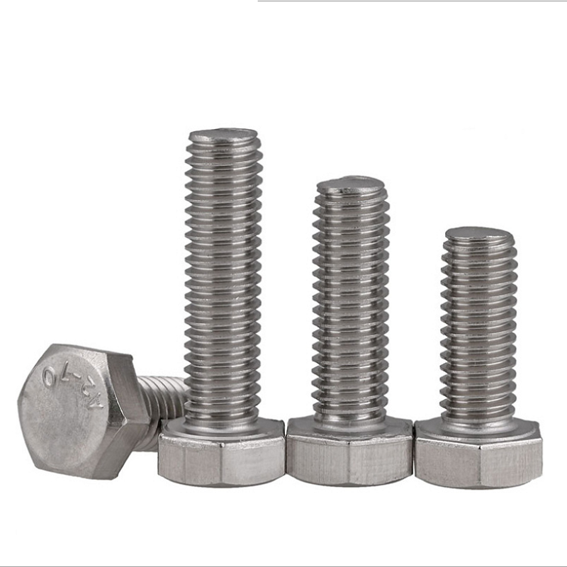 DIN933 M8 Left-Hand Threaded 304 Stainless Steel Hex Head Bolts