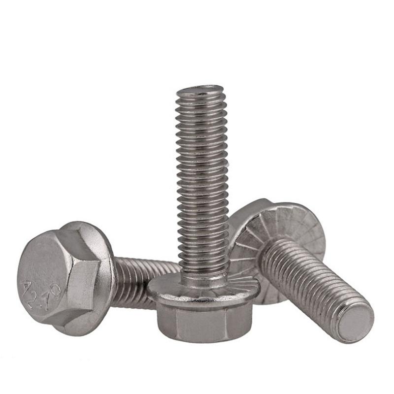 不锈钢带齿法兰外六角螺丝 (1)