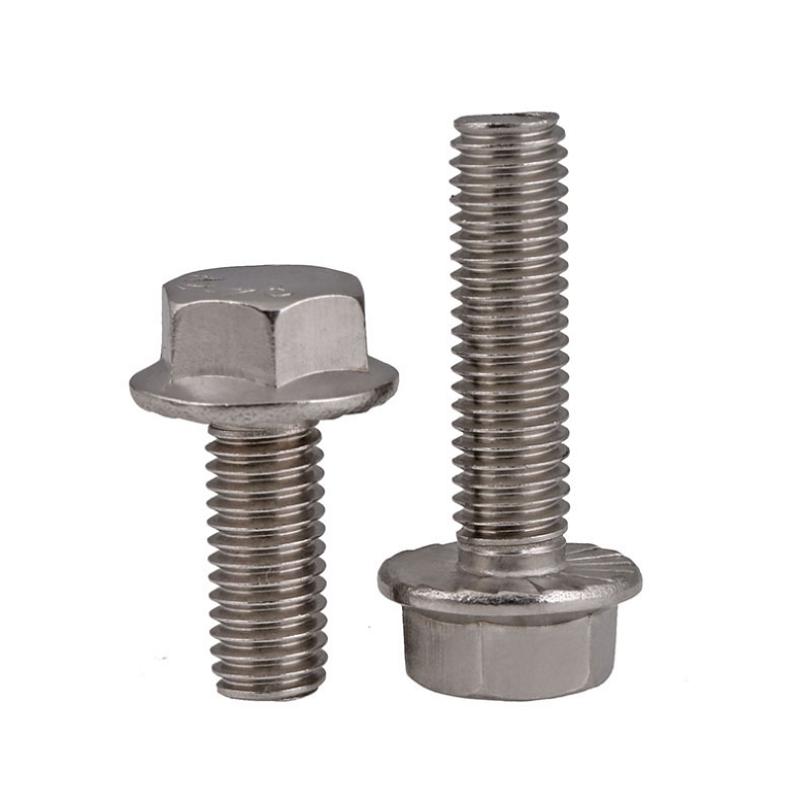 不锈钢带齿法兰外六角螺丝 (2)