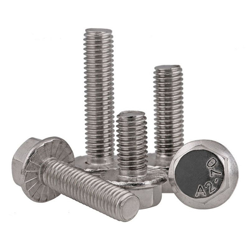 M8 304 Stainless Steel Serrated-Flange Hex Head Bolts