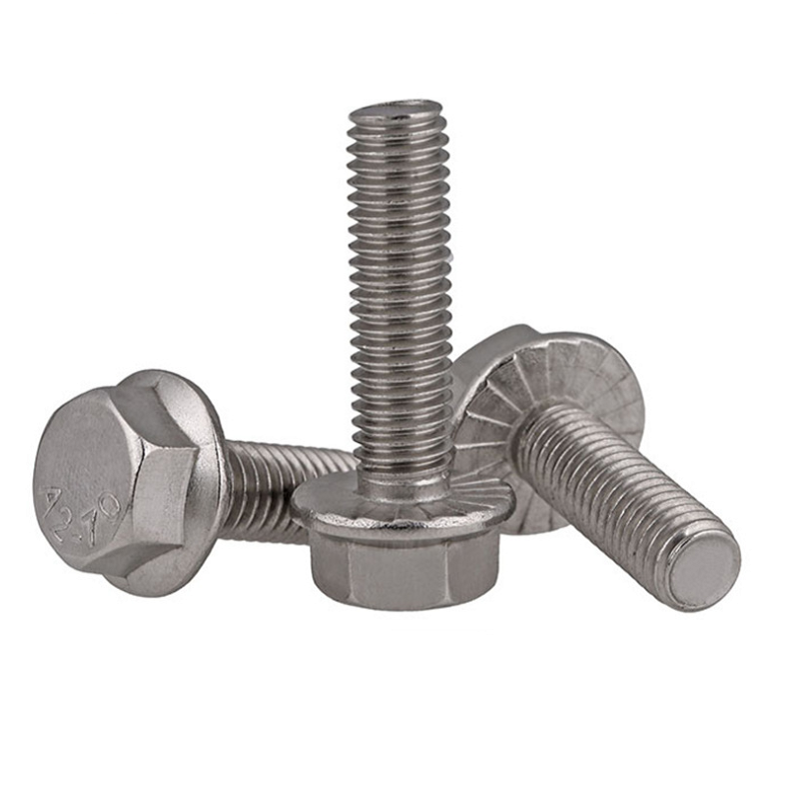M8 304 Stainless Steel Extra-Wide Serrated-Flange Hex Head Screws