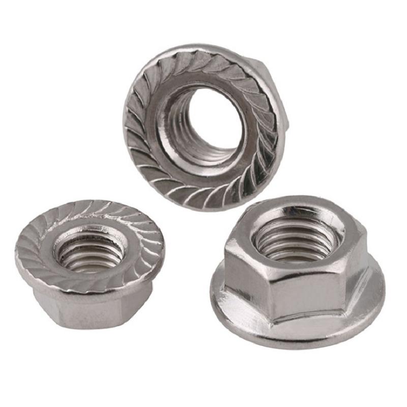 不锈钢带齿法兰螺母 (1)