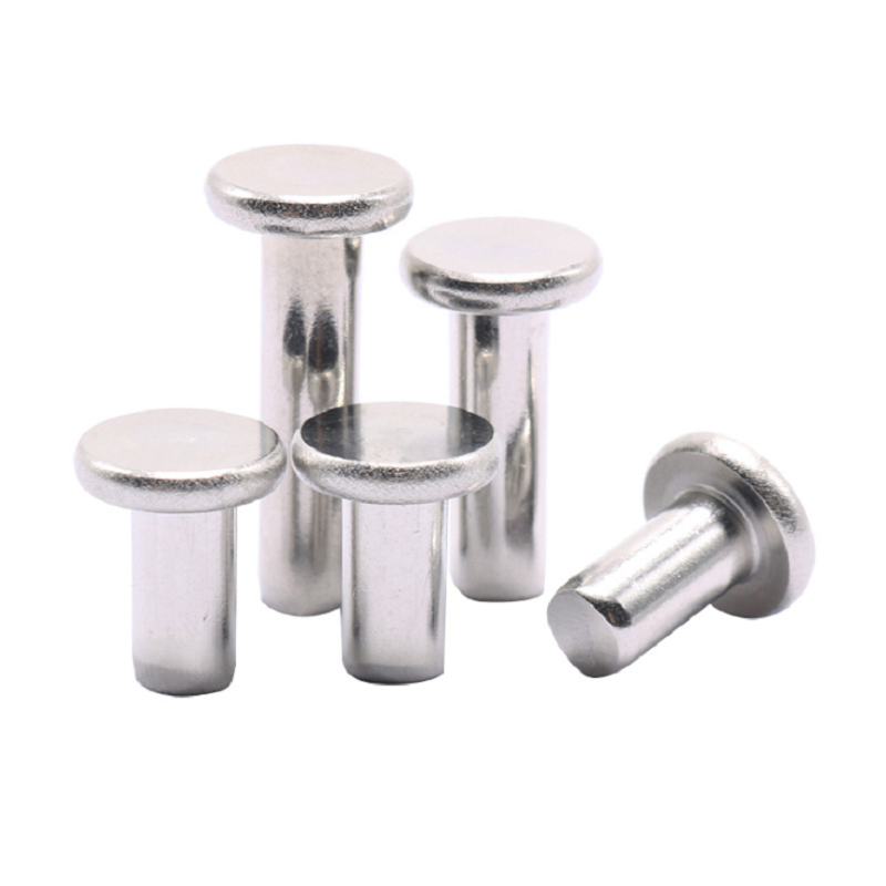 M6 304 Stainless Steel Flat Head Solid Rivets