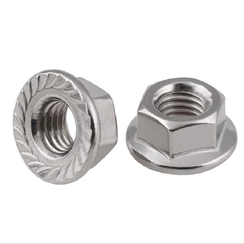 不锈钢法兰尼龙螺母 (2)