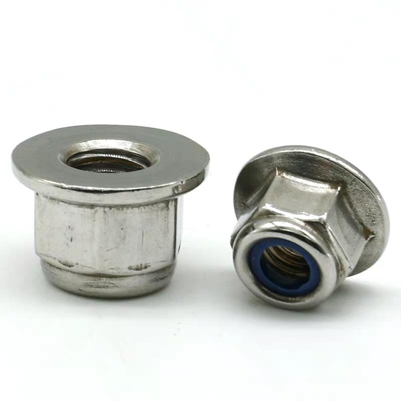 不锈钢法兰尼龙螺母 (4)