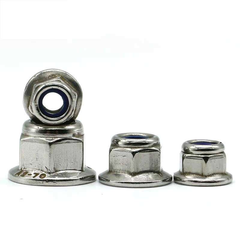 M3-M8 Nickel Plated Nylon-Insert Flange Locknuts