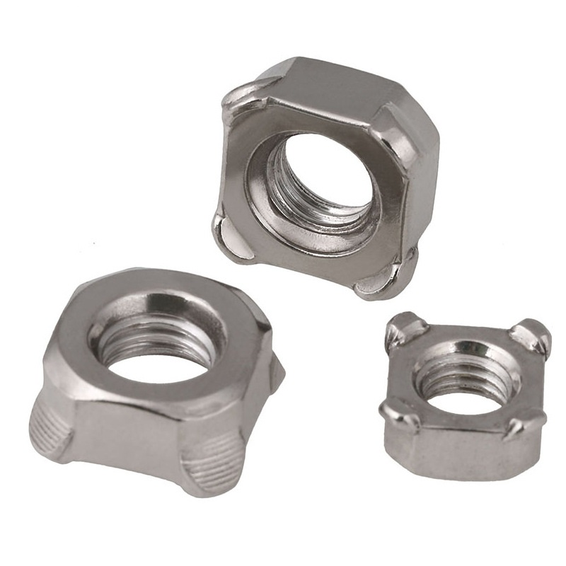 M4-M10 201 Stainless Steel Square Weld Nuts
