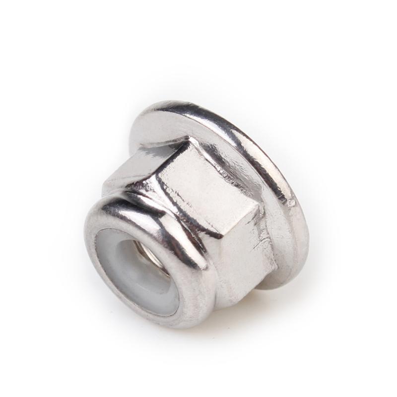 M3-M8 White Zinc Plated Nylon-Insert Flange Locknuts