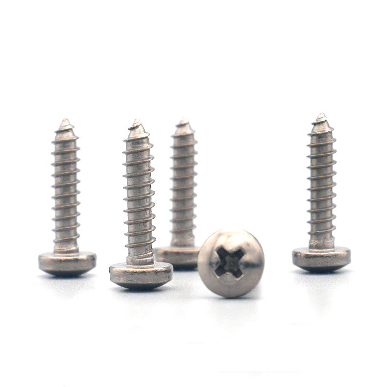 M6 Titanium Phillips Rounded Head Self-Tapping Screws