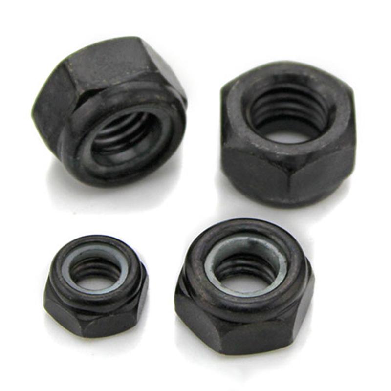 M2-M6 Grade4.8 Black Nickel Plated Nylon-Insert Locknuts