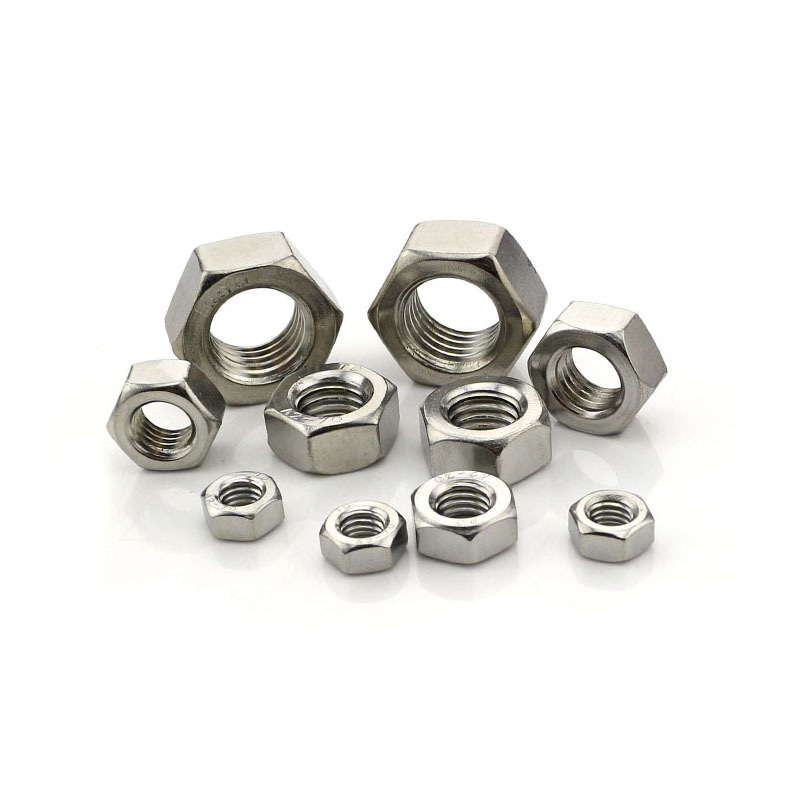 M8-M20 Fine-Thread 201 Stainless Steel Hex Nuts