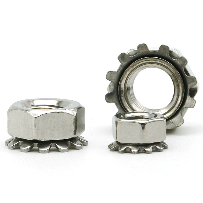 M3-M10 Grade4.8 Zinc Plated Locknuts With External-Tooth Lock Washer