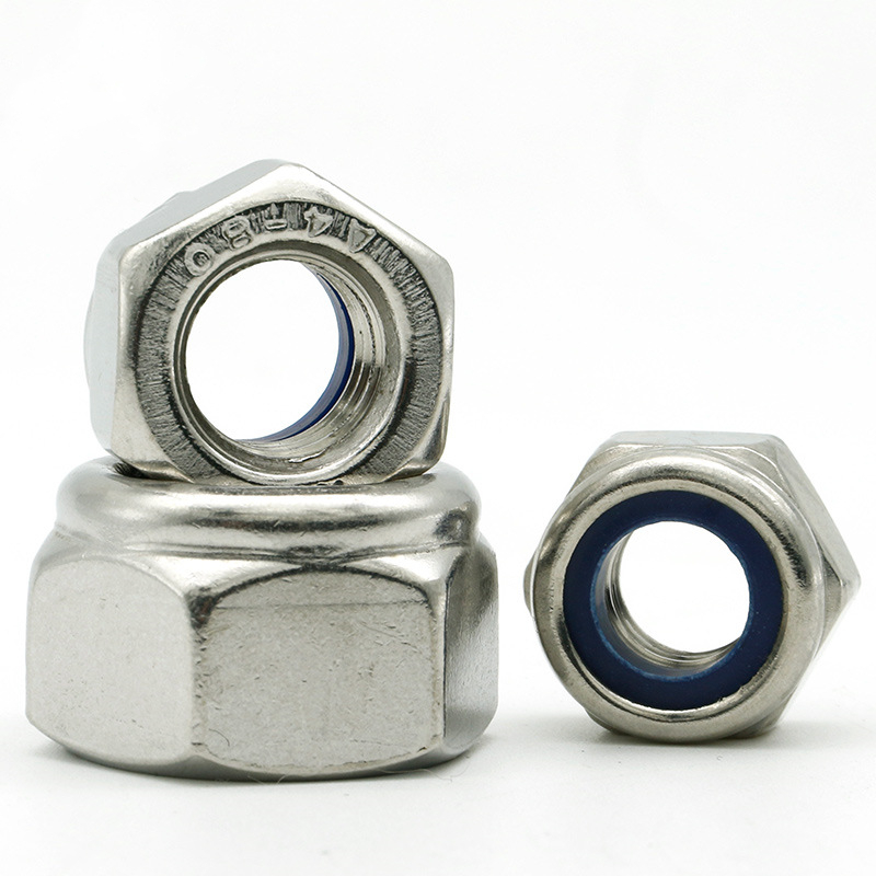 M4-M10 201 Stainless Steel Nylon-Insert Locknuts