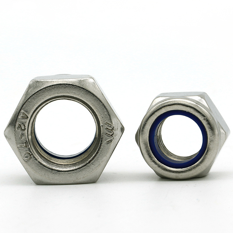 M2-M20 304 Stainless Steel Nylon-Insert Locknuts
