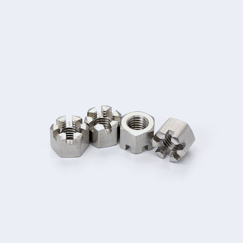 M8-M24 304 Stainless Steel Locknuts For Use With Cotter Pins