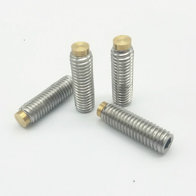M16 304 Stainles Steel Brass-Tip Set Screws