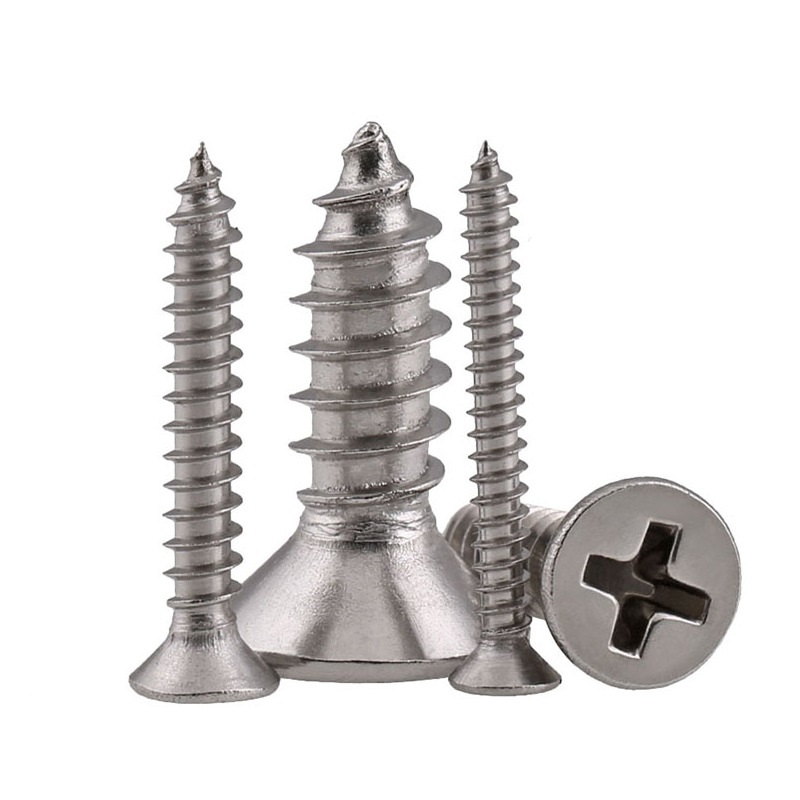 M1.2 304 Stainless Steel Phillips Flat Head Self-Tapping Screws