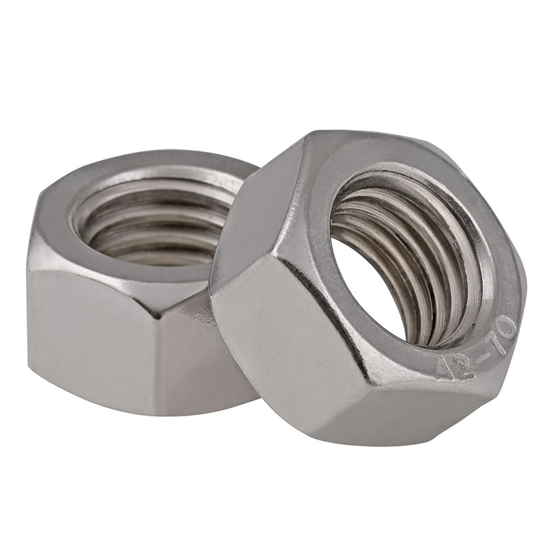 M6-M24 Fine-Thread 304 Stainless Steel Hex Nuts
