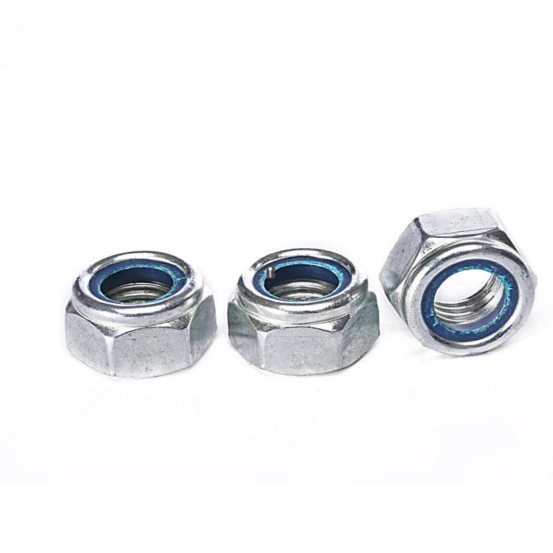 M2-M16 Grade4.8 Zinc Plated Nylon-Insert Locknuts