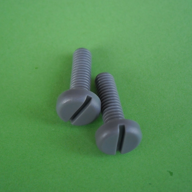 M8 PVC Gray Pan Head Slotted Screws