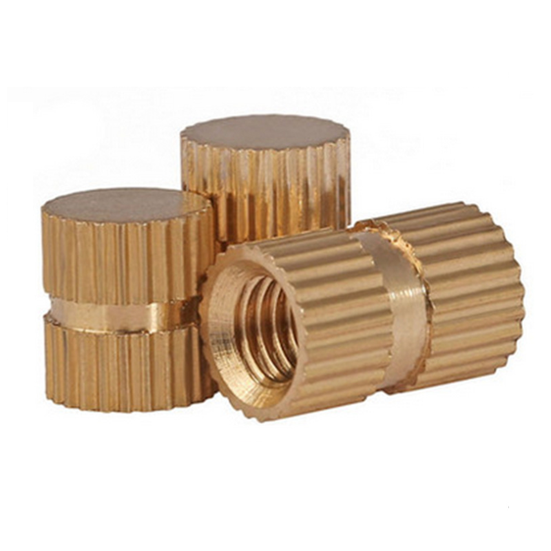 M6 Knurl-Grip Brass Nuts With Close-End