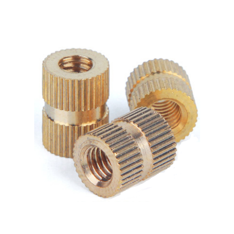M5 (OD7.3) Knurl-Grip Brass Nuts